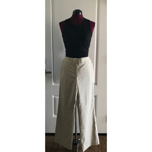 CHADWICK'S Wide Leg Pant Srtipped Cream and Beige